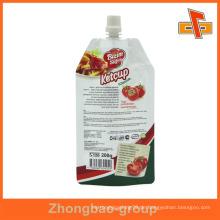 Bunte Stand up Lebensmittel Klasse Kunststoff Verpackung Beutel mit Auslauf für Püree 300ml