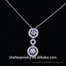 Solide Silber dancingcz Anhänger Diamant Stein aus China Modeschmuck Lieferanten