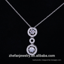 Solid silver dancingcz pendant diamond stone from china fashion jewelry supplier