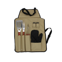 6PCS Protable BBQ Tools Set With Apron