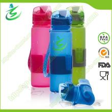 Botella de agua colapsable 600ml suave de silicona Foldbale