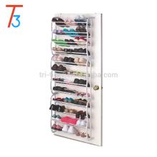 armoire à chaussures portable, armoire à chaussures, 36 paires de porte-chaussures suspendu au-dessus de la porte