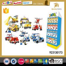 Educational kids interlocking building block toy set