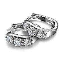 Los pendientes de plata calientes de la CZ de la joyería de la venta forman para el surtidor de China de la muchacha