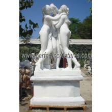 Резьба Мраморная скульптура с резным камнем (SY-X1012A)