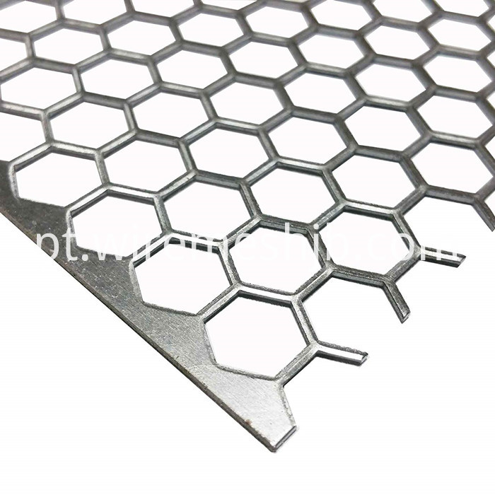 Hexagonal Perforated Metal Mesh