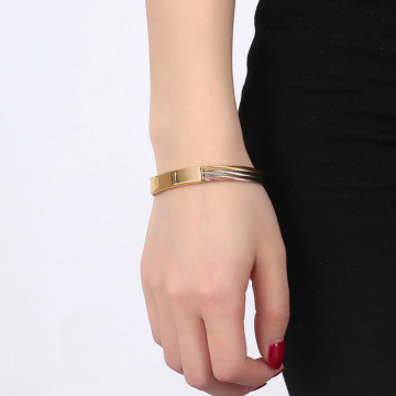 Unisex Stainless Steel Cable Wire Cuff Gelang
