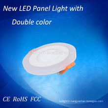 5w LED double color round panel lights LED