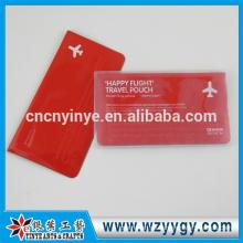 voller Farbe geprägte Reisepass Brieftasche