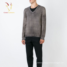 V Neck Cashmere Wool Men Sweater