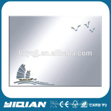 China design hot sell with flowers beauty salon wall mirrors