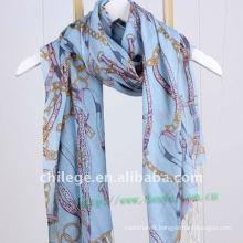 100% wool printed scarf