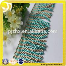 Estoque azul Fringe para vestidos e decoração de casa