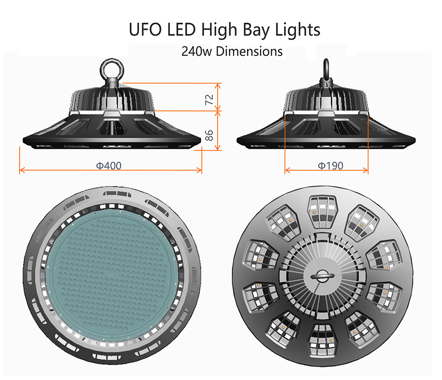 3x 300w Ufo Led High Low Bay Light Factory Warehouse: 200W UFO LED High Bay Industrial Lighting