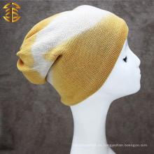 2017 Sombreros largos de encargo de la gorrita tejida de la fábrica al por mayor para los hombres