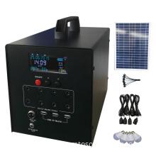 60w solar power system loading TV fan