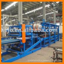 Línea de producción de paneles de sándwich para paneles de lana mineral