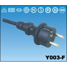 European AC Power Cords Y003-F