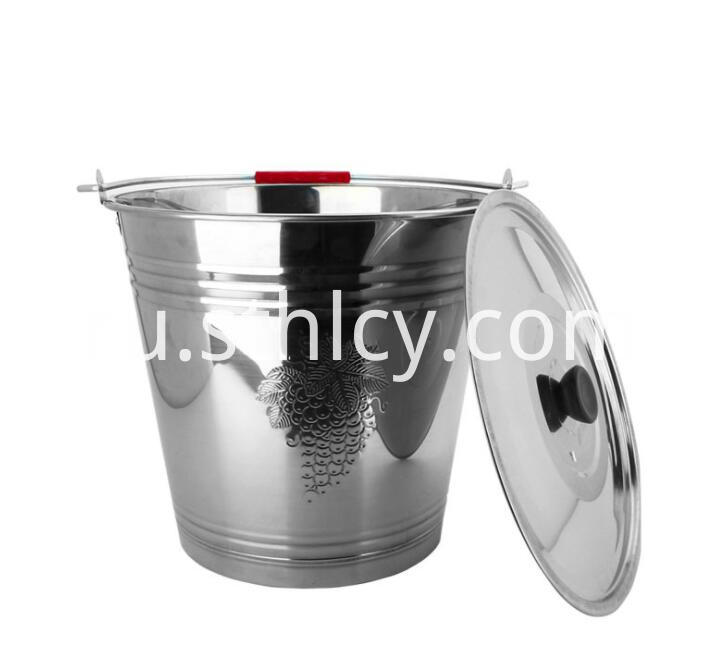 Stainless Steel Pail With Lid