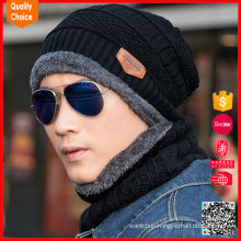 Fashion wholesale custom knitted thick men hat