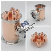 """3 """"4"""" 6 """"8"""" peças de destilação de refluxo cobre coluna seção cobre bolha placa"""