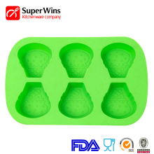 Ice Cream Shaped Bakeware Silicone Muffin Pan