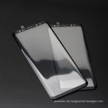 Fabrik großhandel 3d gebogene nano flüssiger bildschirmschutz, einfach installieren gehärtetem glas displayschutzfolie für samsung s9