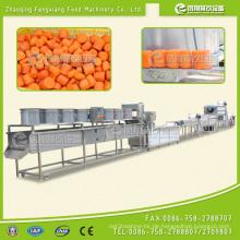 Rettich / Karotten Schneiden Waschen Schälen Polieren Trocknen Automatische Linie