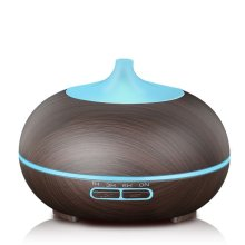 Wood Grain 300ml Ultrasonic Diffuser with LED