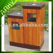Boîte à ordures en bois de qualité