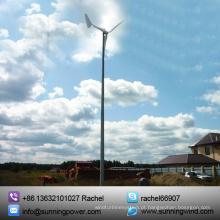 Gerador de turbina de vento de eixo Horizontal de 1000W para exterior