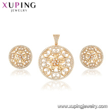 64878 Xuping hollow out flower shape newest design jewelry set for women