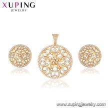 64878 Xuping oco out flower shape mais novo projeto conjunto de jóias para as mulheres