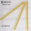 Laser Yag Tattoo ND: CE: YAG Crystal Yellow Rod D5 * 80 mm