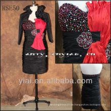 RSE50 schwarze Mutter der Braut Kleider mit Jacken