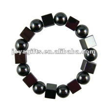 Fashion Hematite Square Beaded Bracelet