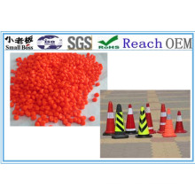 Orange Construction PVC Material Cones Granules