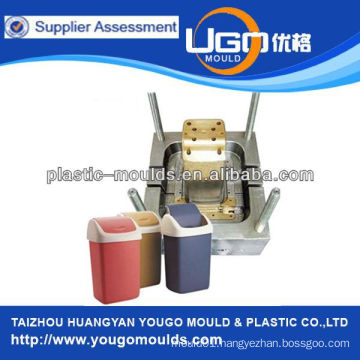 manufacturing household salable trash can mold,plastic waste bin mould for sale in factory