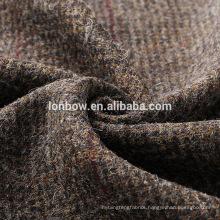 High quality brown 100% wool jacket tweed fabric