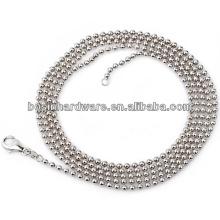 Made In China Boa qualidade Metal aço inoxidável Bead Ball Chains Designs