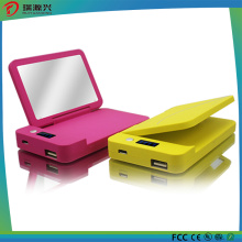 Rechargeable 4000mAh Heart-Style Mirror Mobile Power Bank