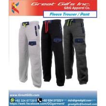 calça de lã macia unissex personalizada / calça de moletom de ginástica / calça de corrida