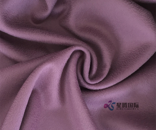 Plush Double-face Water Wave Wool Fabric