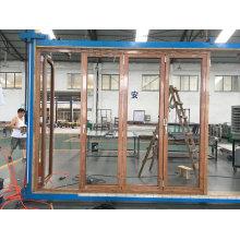 Portes en aluminium bifold en aluminium / portes de patio pli en aluminium Prix