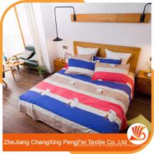 Folha de cama de desenhos simples e refrescantes para exportação