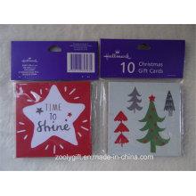 Набор миниатюрных рождественских подарочных карт и конверт