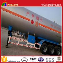 Semi reboque do tanque do aço carbono do transporte de gás 45000L semi