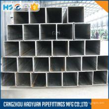 Tubulação de aço quadrada com tinta preta 1mm