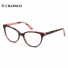 Marcos de gafas de acetato hermosa joven rosa por mayor al por mayor