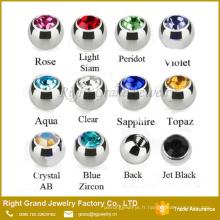 Billes de gemme de revêtement d'acier inoxydable, boulons filetés de vis de perçage de corps remplacements 3mm 4mm 5mm